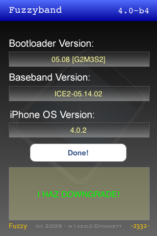Fuzzy 3g baseband downgrader. - Iphone News, Jailbreak Apps.