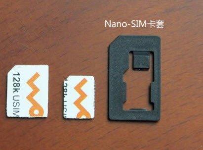 how to put a cut sim card in an iphone