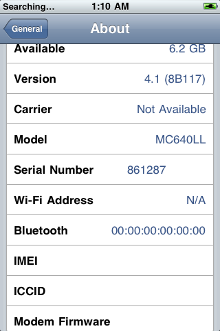 where is serial number on iphone new iphone 3gs 8gb uses new chip that s not compatible 19623