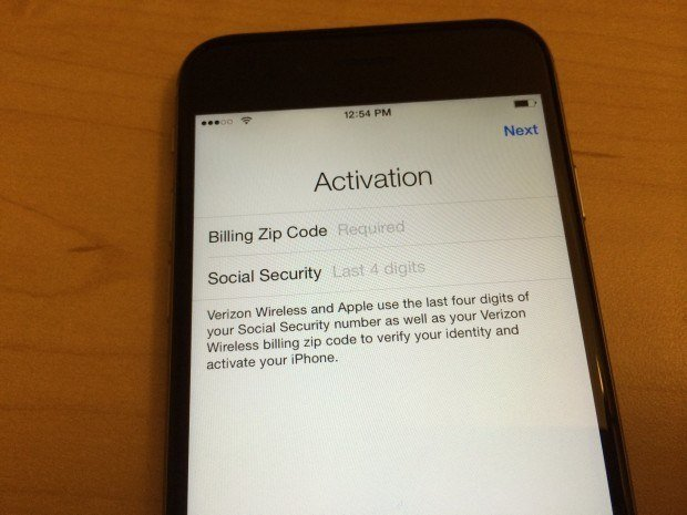 iphone-activation-ssn-zip-code